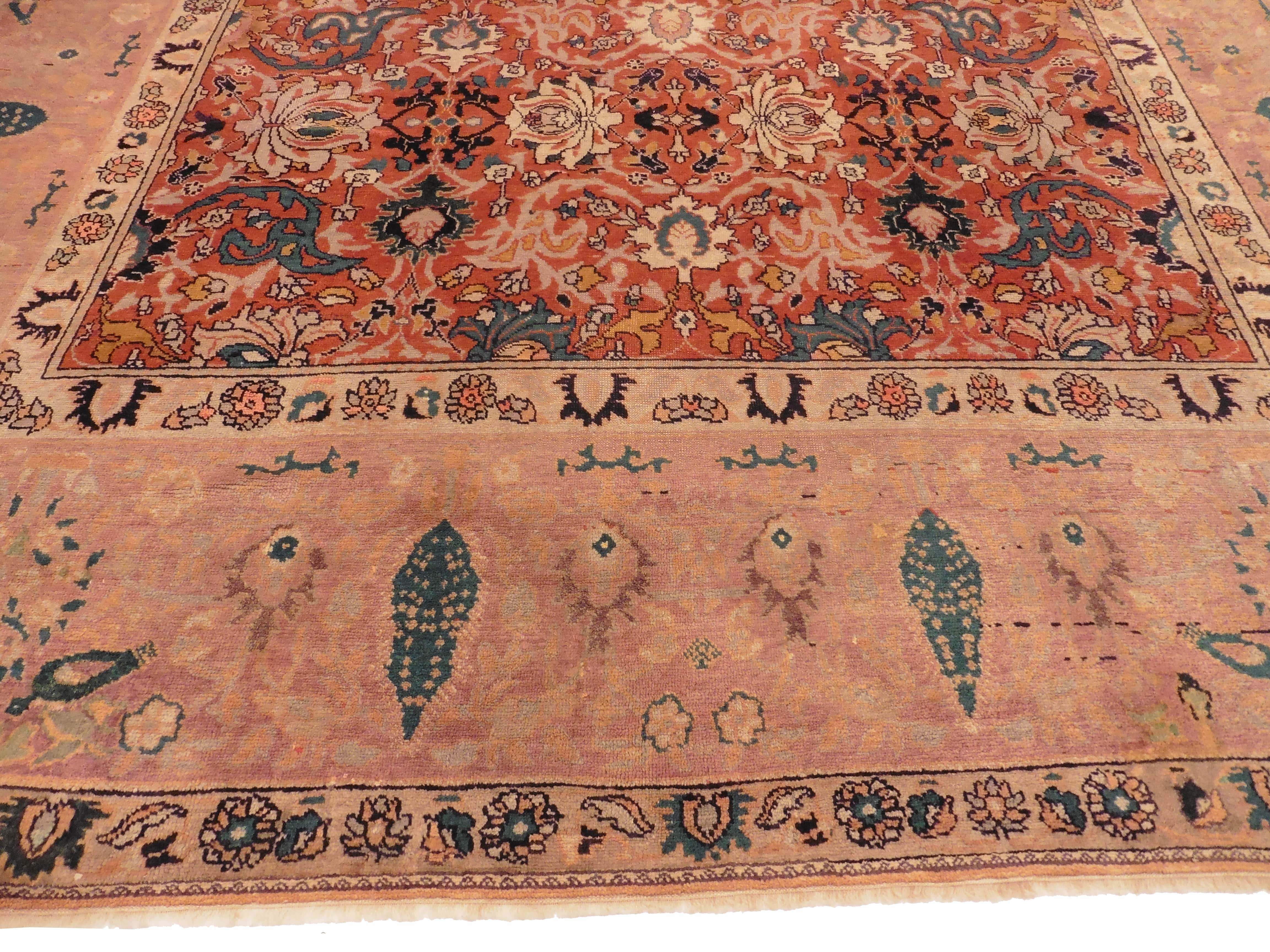 Antique Persian Sultanabad 11 X 13 Area Rug 10369