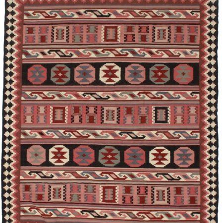 Vintage Afghan 7x9 Wool Kilim Rug 9123