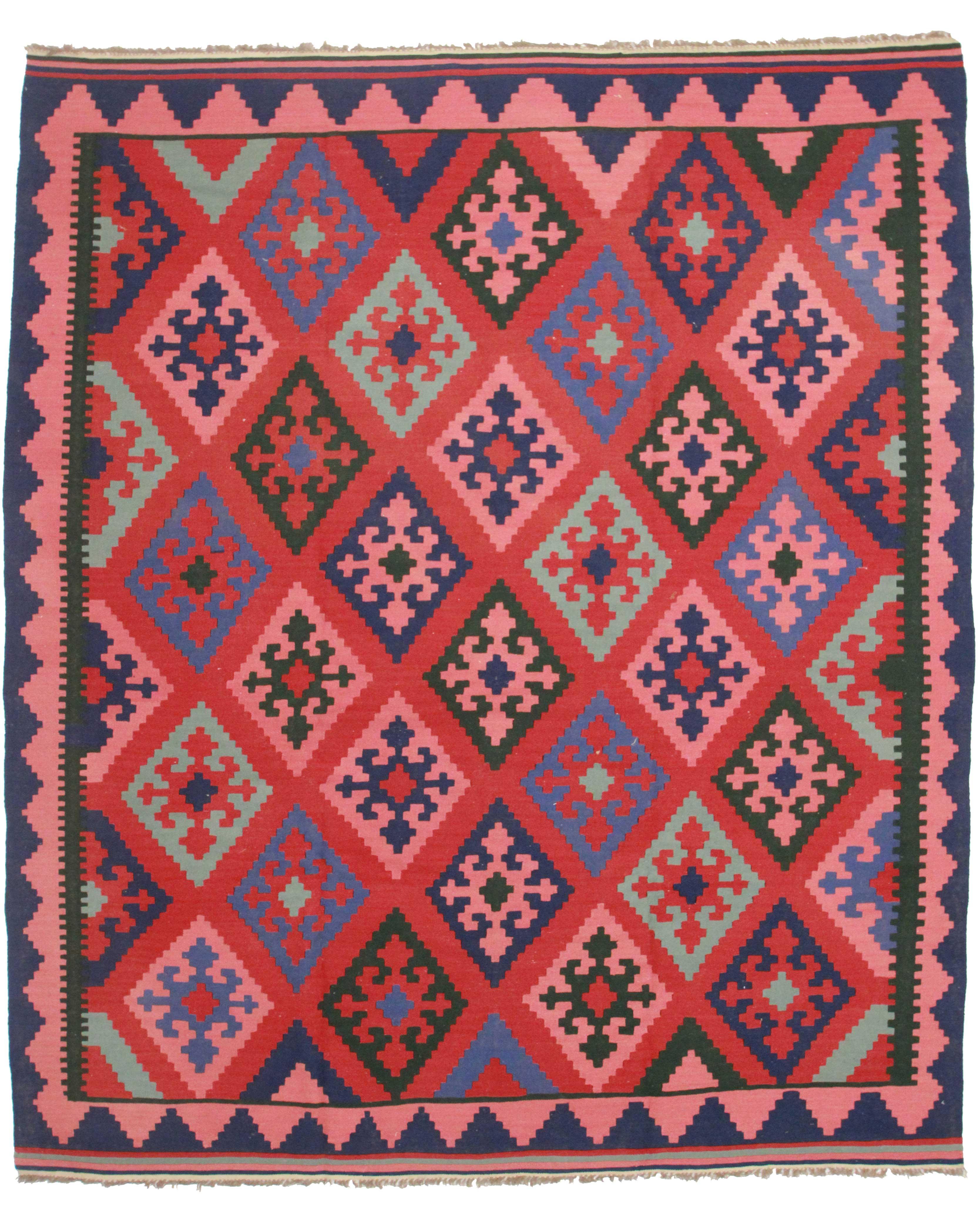Vintage Afghan Wool Kilim 8 X 10 Rug 9116 Exclusive Oriental Rugs