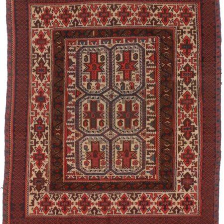 Vintage Hand Woven Wool Soumak 5×9 Rug 10322