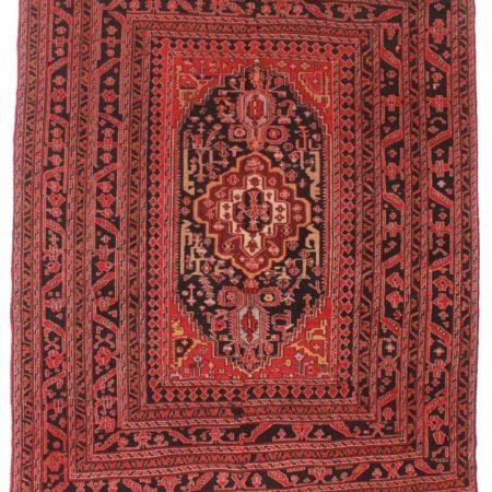 Vintage Hand Woven Wool Soumak 6x9 Area Rug 10319
