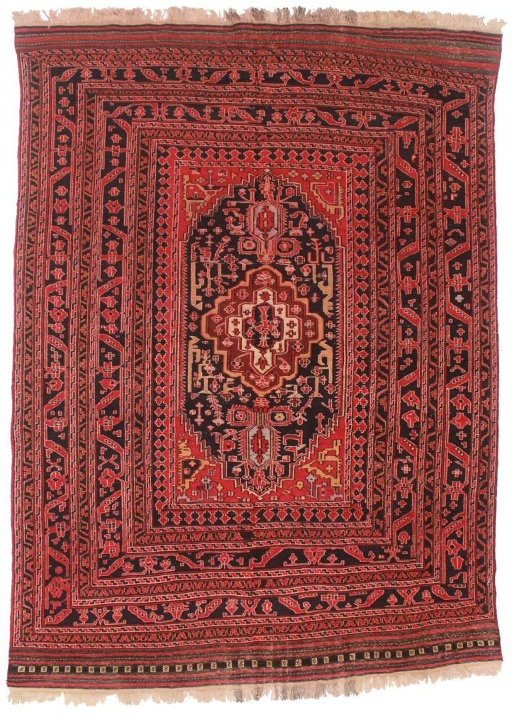 vintage hand woven wool soumak 6x9 area rug 10319. Black Bedroom Furniture Sets. Home Design Ideas