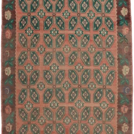 Vintage Turkish Kilim 7 x 10 Area Rug 3439
