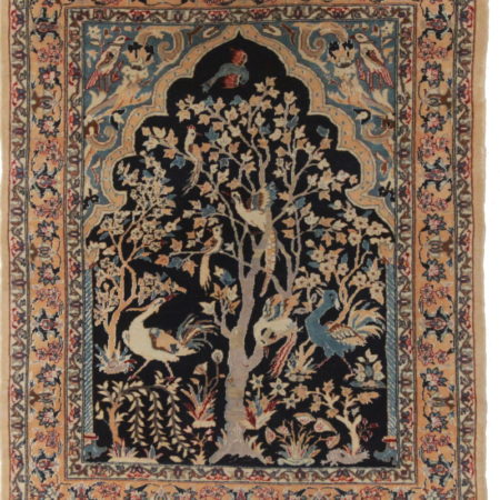 2 x 3 Silk Wool Persian Isfahan Rug 14195