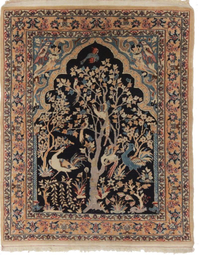 2 x 3 Silk Wool Persian Isfahan Rug 14195