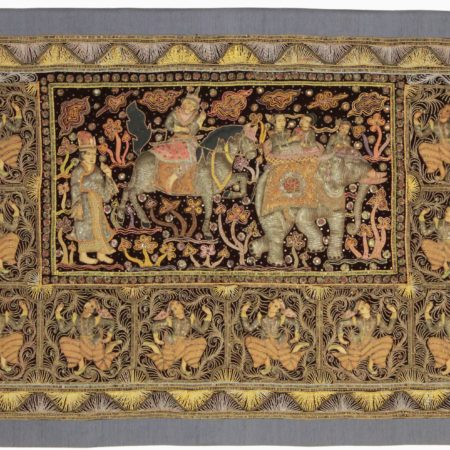 3 x 5 Myanmar Embroidered Kalaga Tapestry