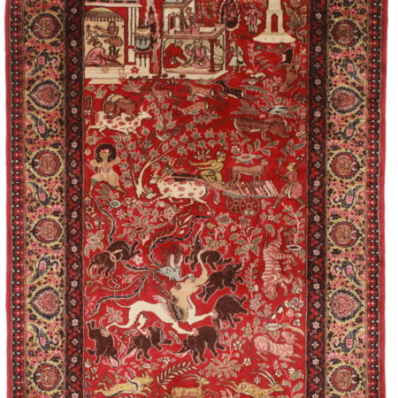 4 x 6 High Quality Wool Persian Tabriz Rug 14272