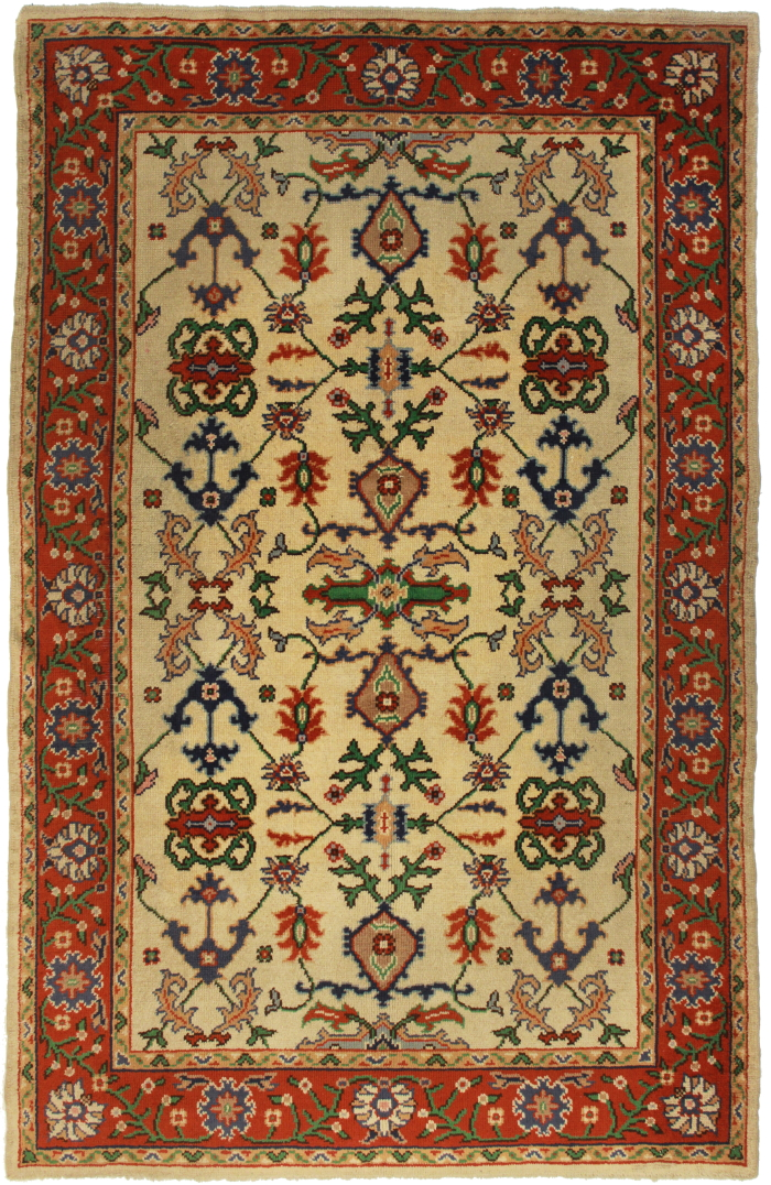 6 X 10 Turkish Oushak Rug 10823 Hand Knotted Wool