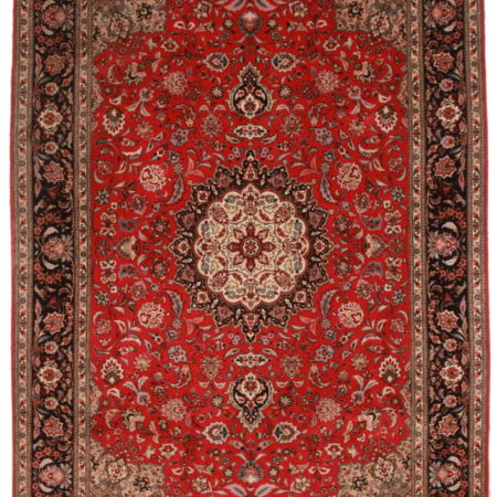 7 x 10 Silk Wool Persian Tabriz Rug 14325