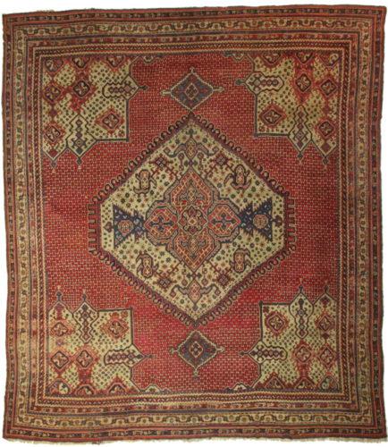 Turkish Ground Rug: Antique Turkish Oushak