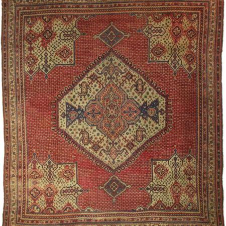 Antique 16 x 18 Turkish Oushak Wool Rug 11294