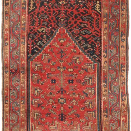 Antique Persian Kurdish Bijar Rug 14305