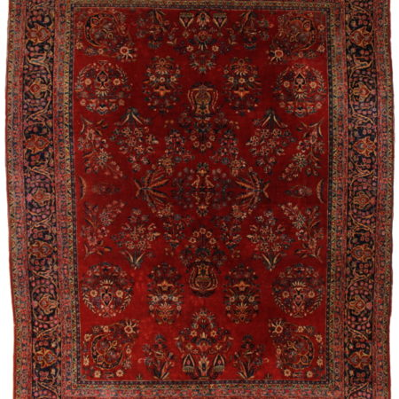 Persian Kashan 9 x 12 Area Rug 14371