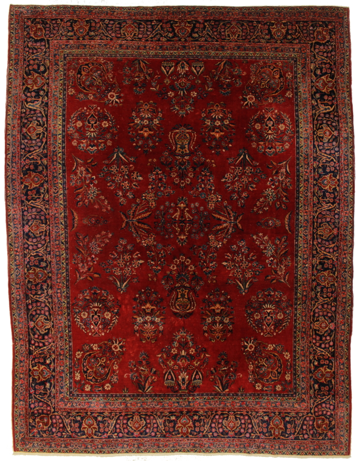 persian kashan 9 x 12 area rug 14371. Black Bedroom Furniture Sets. Home Design Ideas