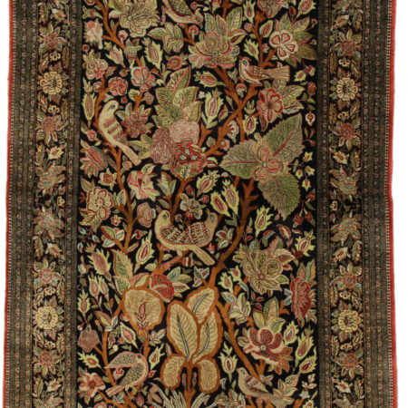 Persian Qum 4 x 7 Silk Area Rug 14369