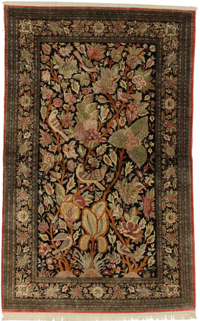 Persian Qum 4 x 7 Silk Area Rug 14369