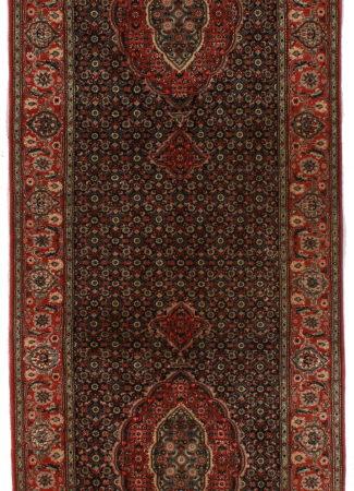 Persian Tabriz Silk Wool 3 x 9 Runner 14381
