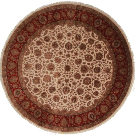 12 Feet Round Persian Design Rug 13651