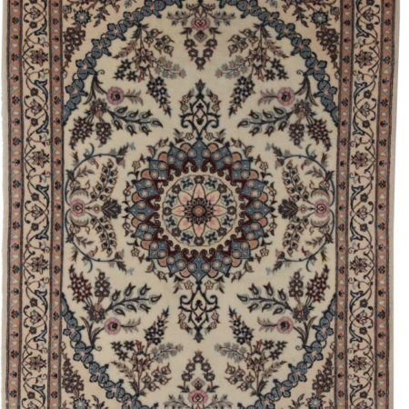 3 x 5 Silk Wool Persian Nain Rug 14282