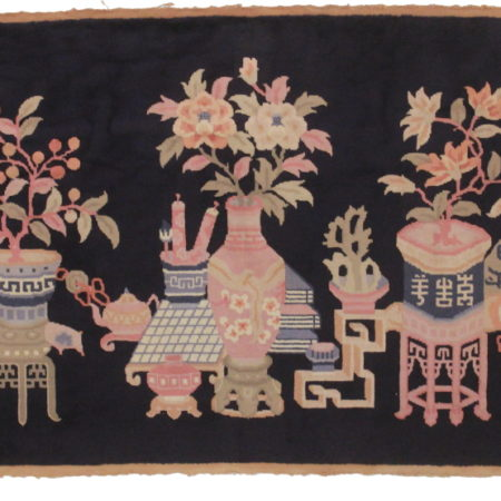 3 x 6 Antique Chinese Peking Rug 14194
