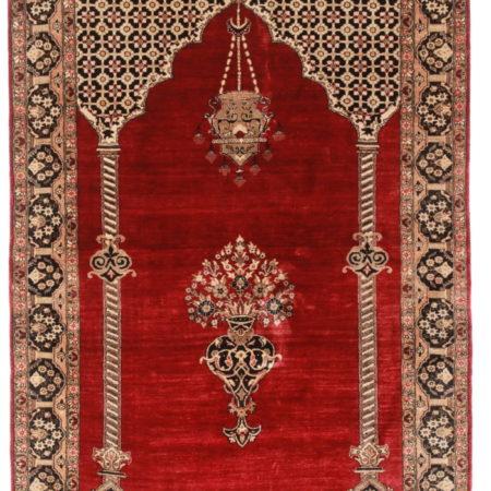 3 x 6 Silk Persian Qum Rug 14249