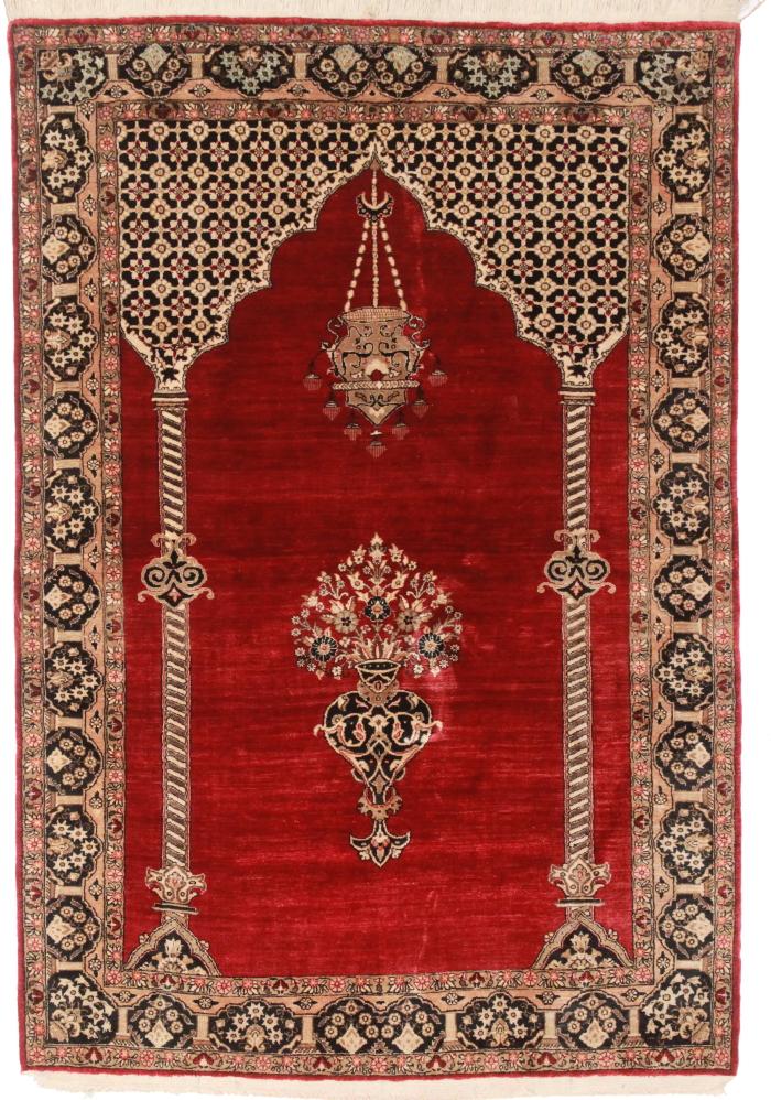 3 X 6 Silk Persian Qum Rug 14249 Hand