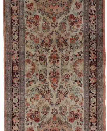 3 x 8 Silk Persian Qum Runner 14192