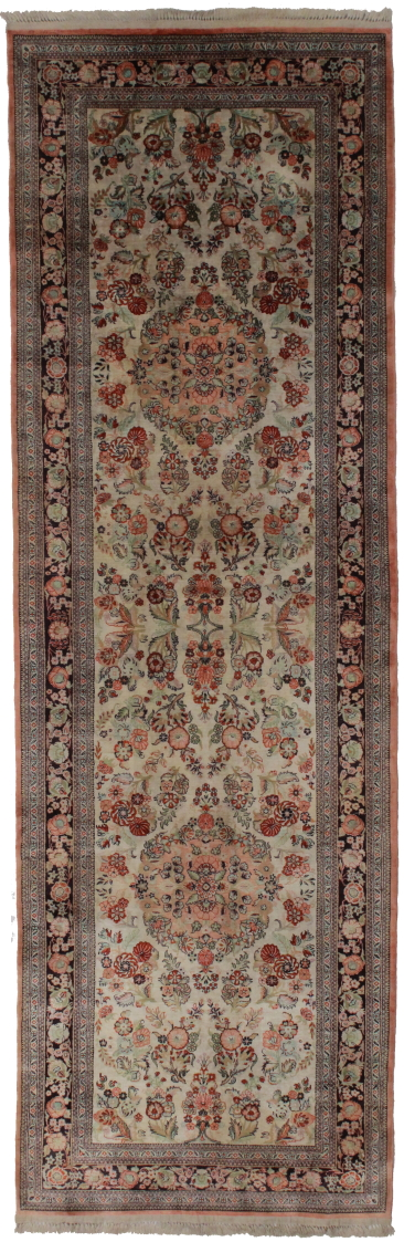 3 x 8 Silk Persian Qum Runner 14192