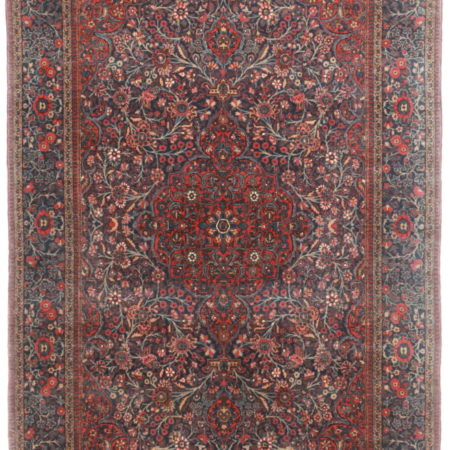 4 x 7 Antique Fine Persian Kashan Rug 14174