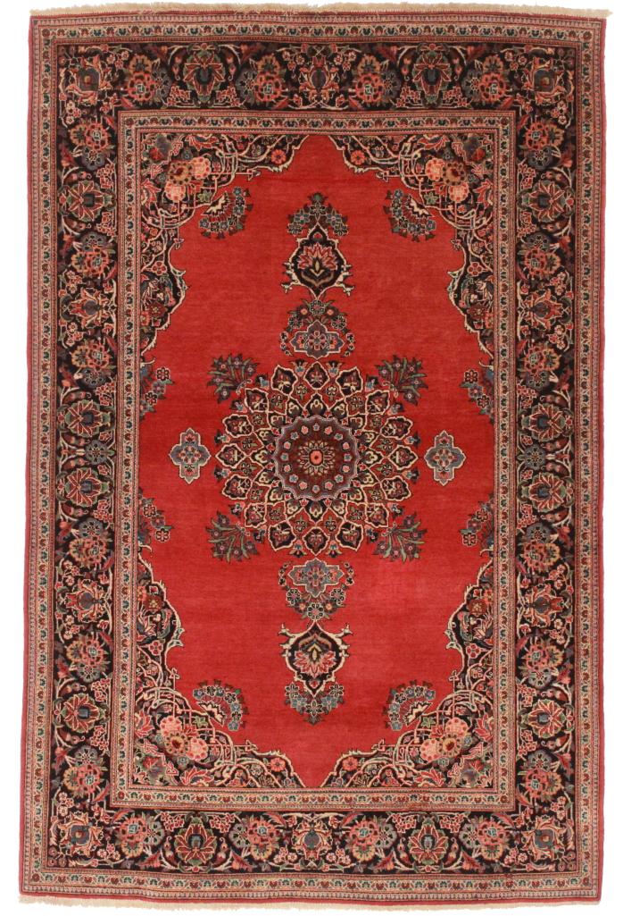 4 x 7 Fine Persian Kashan Rug 14169