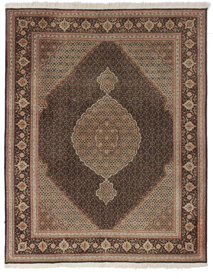 5 x 6 Silk Wool Persian Tabriz Rug 14314