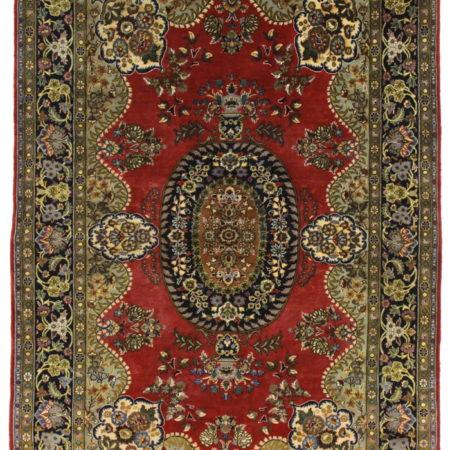 5 x 7 Silk Wool Fine Persian Kashan Rug 14347