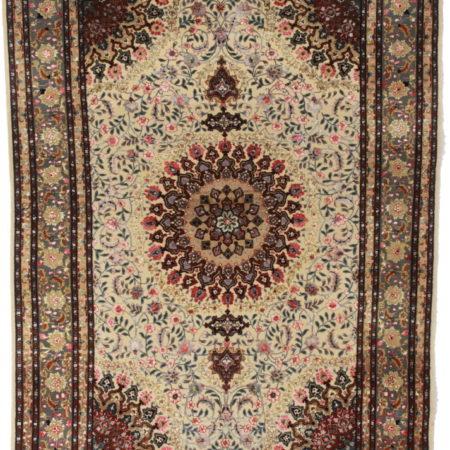 5 x 7 Silk Wool Persian Tabriz Rug 14167