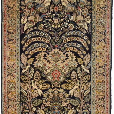 5 x 9 Silk Wool Persian Qum Rug 14355