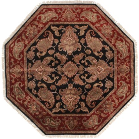 6 Feet Octagon Persian Design Rug 13590