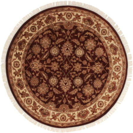 6 Feet Round Persian Design Rug 13035