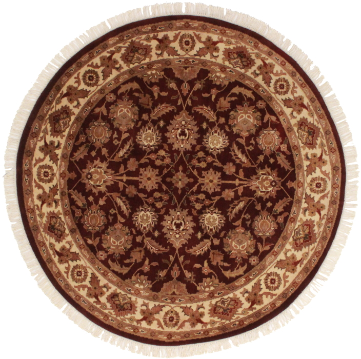 6 Feet Round Persian Design Rug 13035. Hover To Zoom