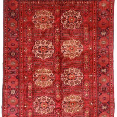 6 x 9 Fine Wool Turkmen Tribal Rug 14144