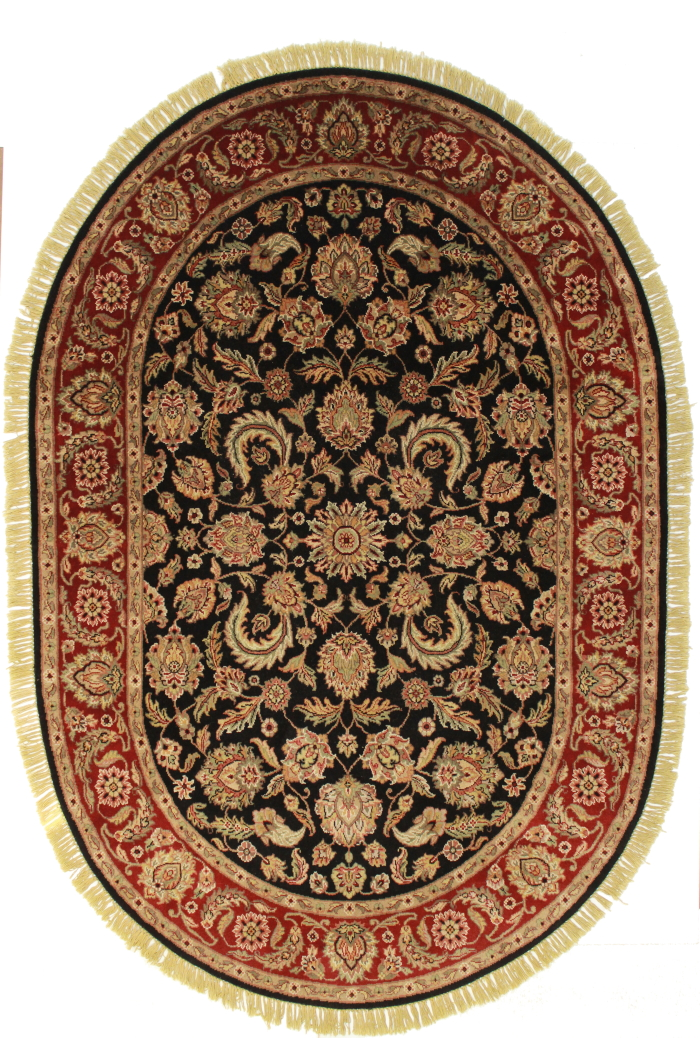 6 x 9 Oval Persian Design Rug 13592
