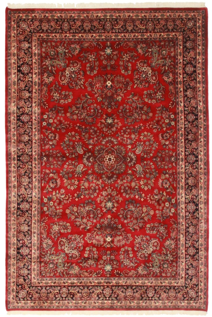 7 x 10 persian sarouk style rug 12191 for Home inspired by india rug