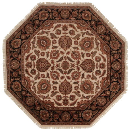 8 Feet Octagon Persian Design Rug 13714