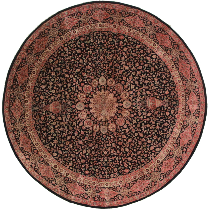 8 Feet Round Persian Design Rug 11112
