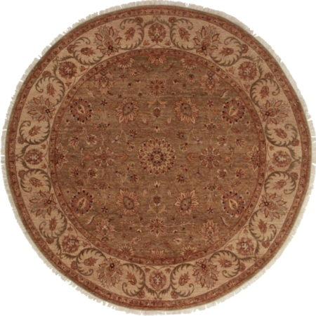 8 Feet Round Persian Design Rug 14027