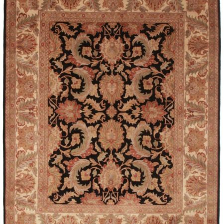 8 x 10 Black Persian Style Rug 13197