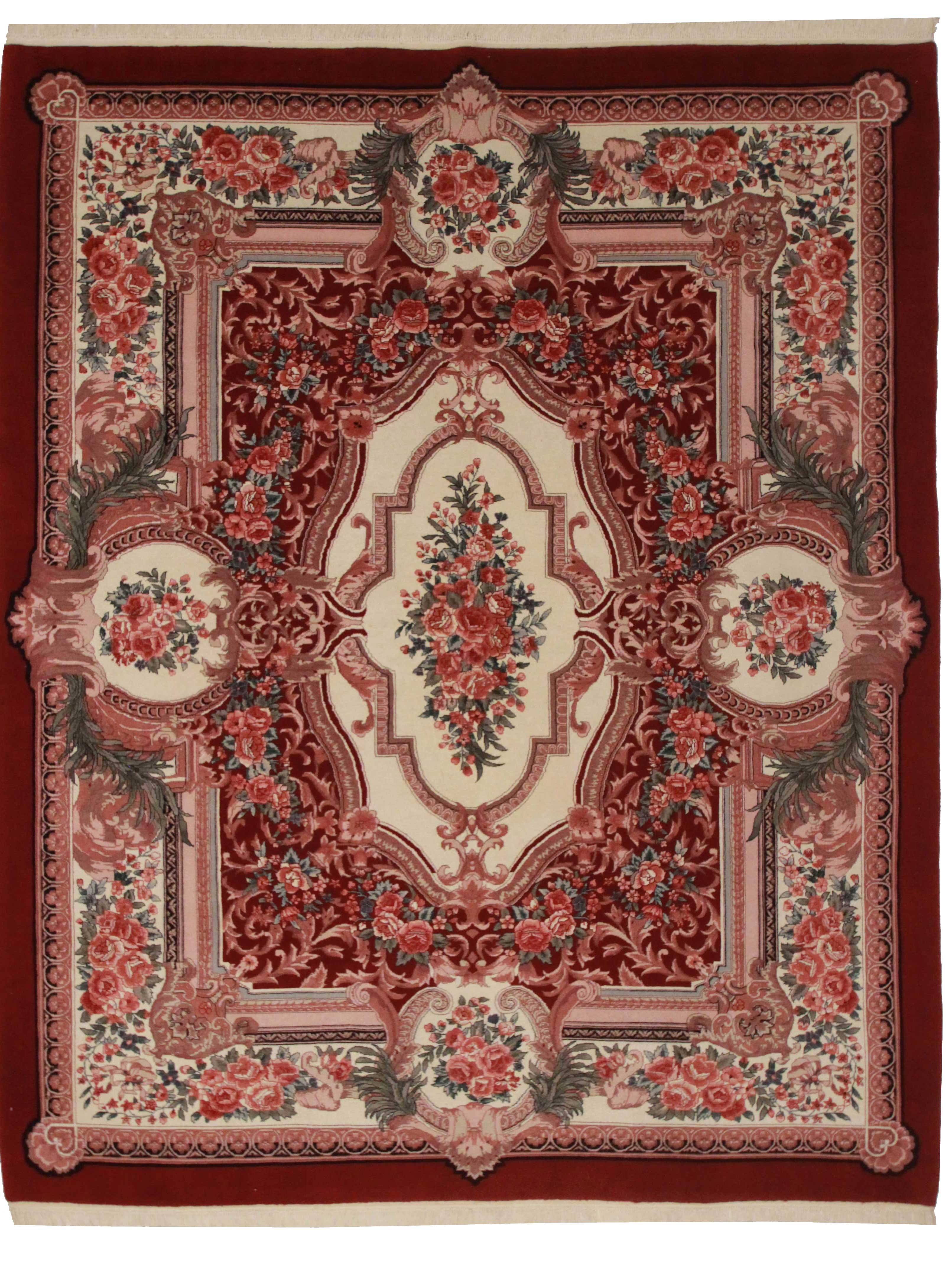 8 X 10 Chinese Aubusson Rug 10047 Exclusive Oriental Rugs
