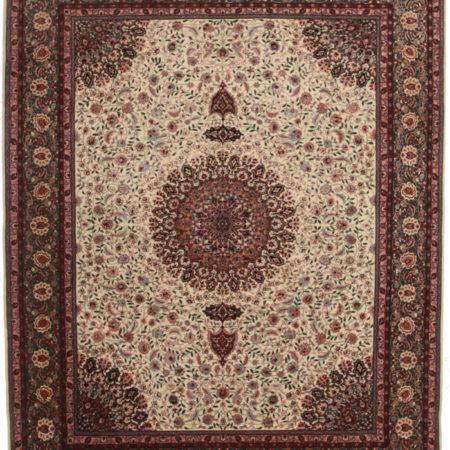 8 x 10 Silk Wool Persian Tabriz Style Rug 14156
