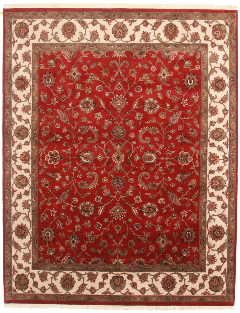 8 x 10 wool persian tabriz style rug 13712 for Home inspired by india rug