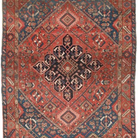 9 x 12 Antique Persian Heriz Rug 12147