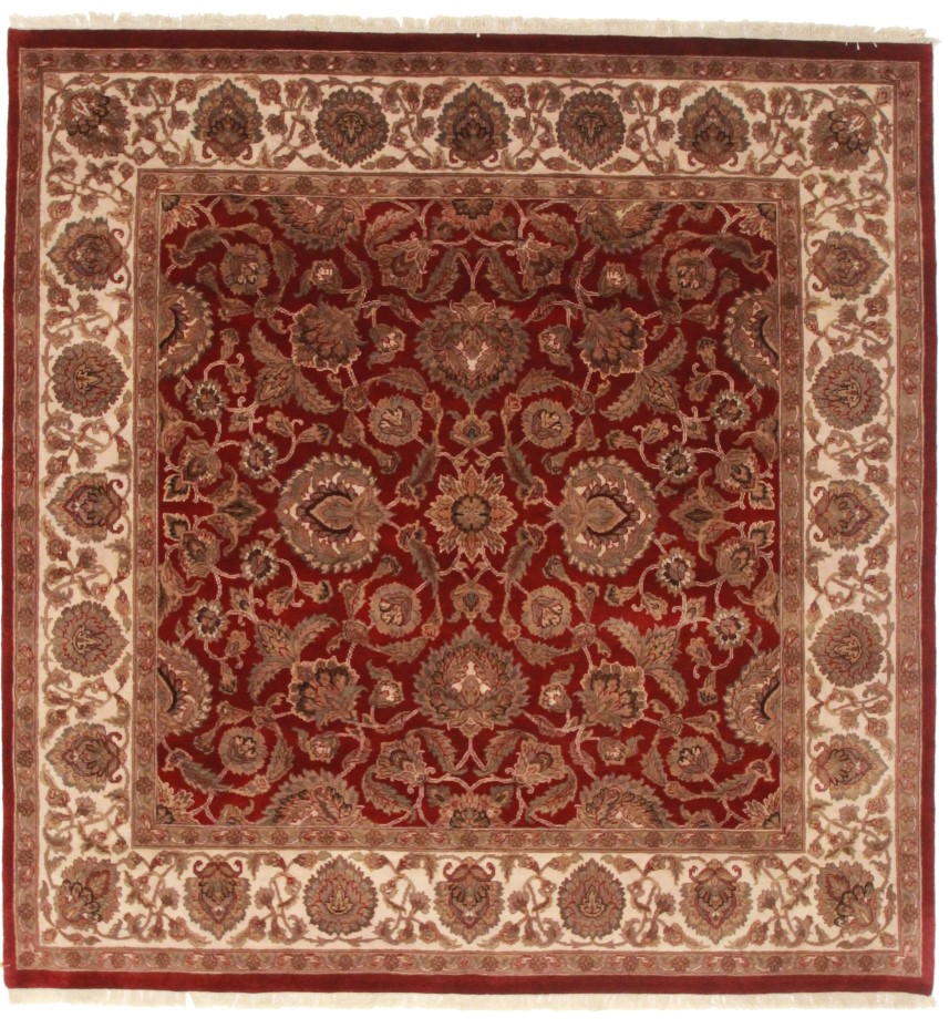 Square oushak style quality rug 13665 for Home inspired by india rug