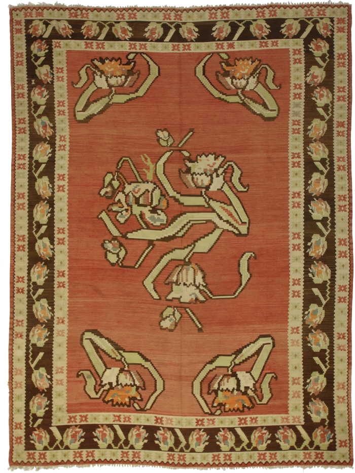 Vintage Turkish Kilim Rug 7050 100 Wool